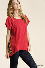 Shirt- Red Leopard Back