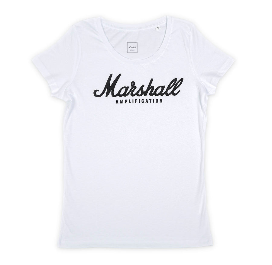 Marshall Script Logo Women's T-Shirt-Marshall Travel