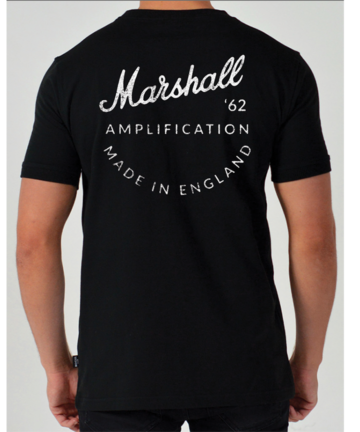 Marshall 62 Vintage Men's Black Tee