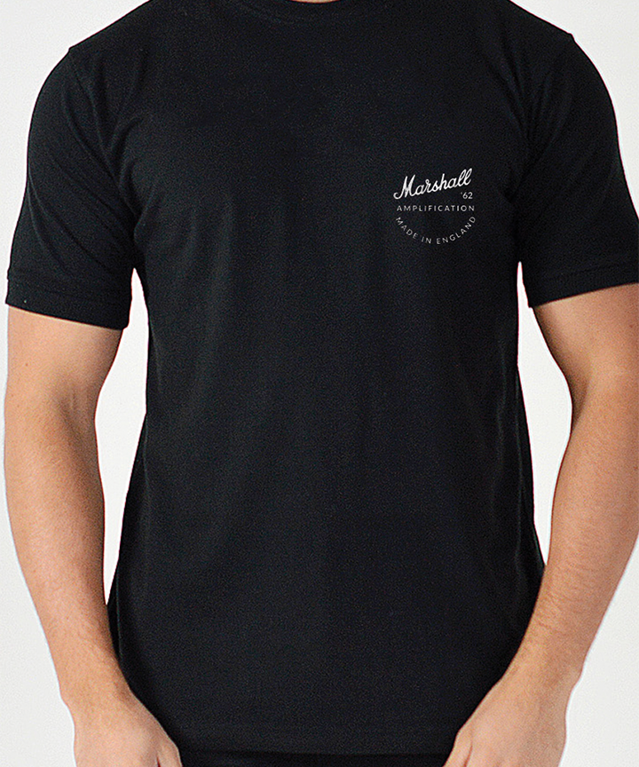 Marshall Vintage Men's T-Shirt in Black-Marshall Travel