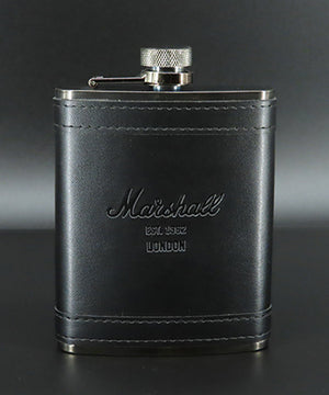 Marshall Leather Flask in Nickel Grey-Marshall Travel