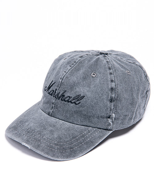 Distressed Tour Cap in Grey/Black-Marshall Travel
