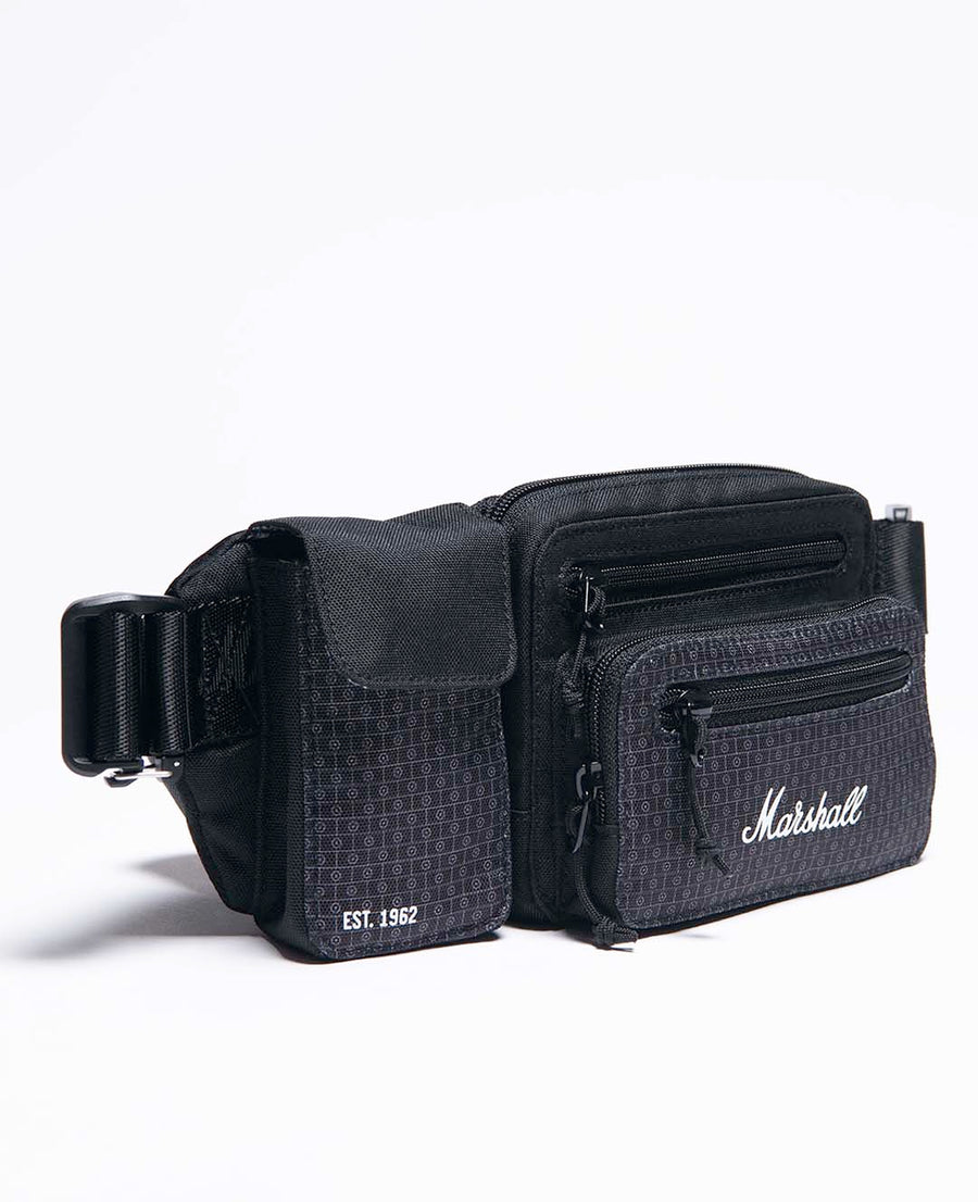 Underground Belt Bag in Black/White-Marshall Travel