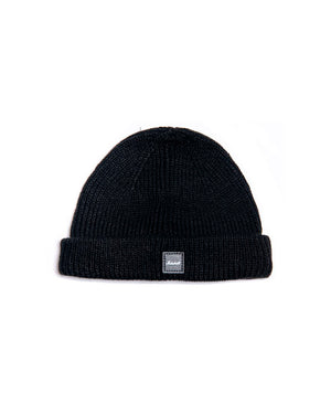 Marshall Badge Logo Fisherman Beanie in Black-Marshall Travel