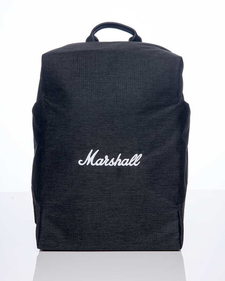 City Rocker Backpack in Black/White-Marshall Travel