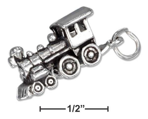 Sterling Silver Three Dimensional Choo-Choo Train Charm | Jewelry Store
