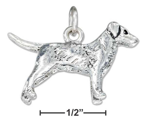 Sterling Silver Three Dimensional Labrador Retriever Dog Charm | Jewelry Store