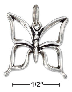 Sterling Silver Open Butterfly Charm | Jewelry Store
