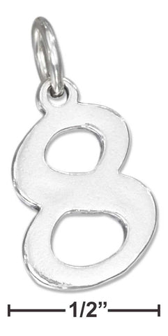 "Sterling Silver ""8"" Number Charm 