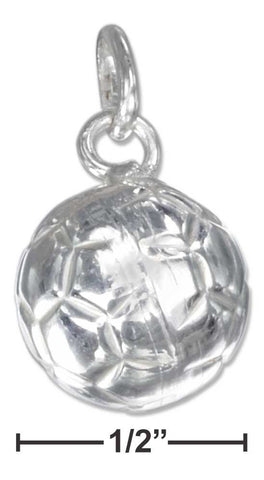 Sterling Silver High Polish Three Dimensional Soccer Ball Charm | Jewelry Store