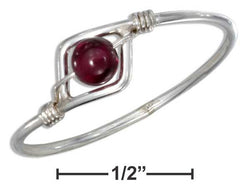 Sterling Silver Wire Ring With Garnet Bead | Jewelry Store