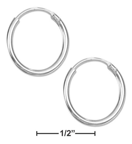 Sterling Silver 14mm Endless Wire Hoop Earrings | Jewelry Store