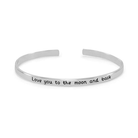 """Love you to the moon and back"" Cuff Bracelet 