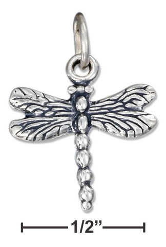 Sterling Silver Antiqued Dragonfly Charm | Jewelry Store