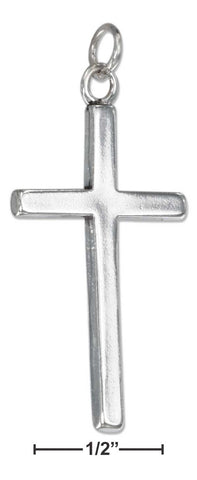Sterling Silver Flat Cross Charm | Jewelry Store