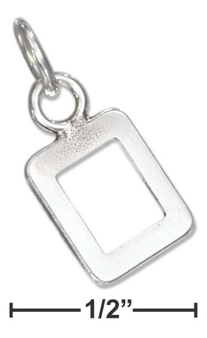 "Sterling Silver Fine Lined ""0"" Number Charm 