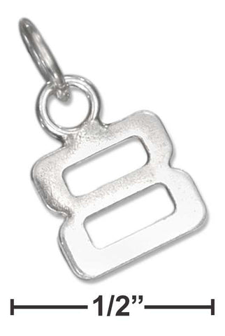 "Sterling Silver Fine Lined ""8"" Number Charm 