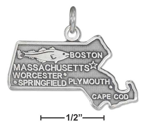 Sterling Silver Massachusetts State Charm | Jewelry Store