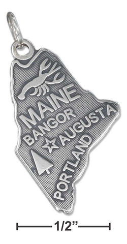 Sterling Silver Maine State Charm | Jewelry Store