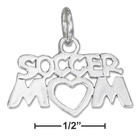 "Sterling Silver ""Soccer Mom"" Charm 