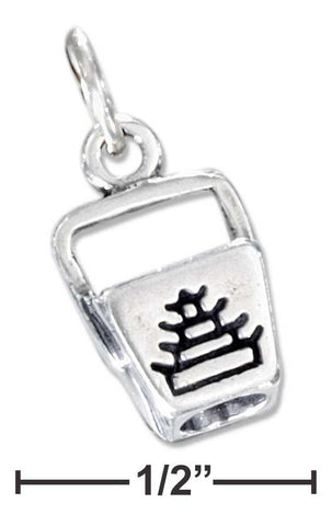 Sterling Silver Three Dimensional Chinese Food Take-Out Box Charm | Jewelry Store