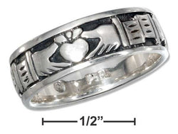 Sterling Silver Claddagh Heart In Hands Band Ring | Jewelry Store