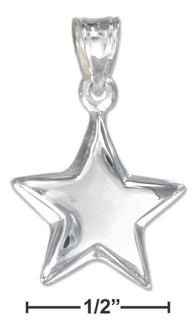 Sterling Silver Small Shining Star Pendant | Jewelry Store