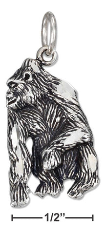 Sterling Silver Antiqued Gorilla Charm | Jewelry Store