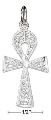 Sterling Silver Filigree Ankh Charm | Jewelry Store