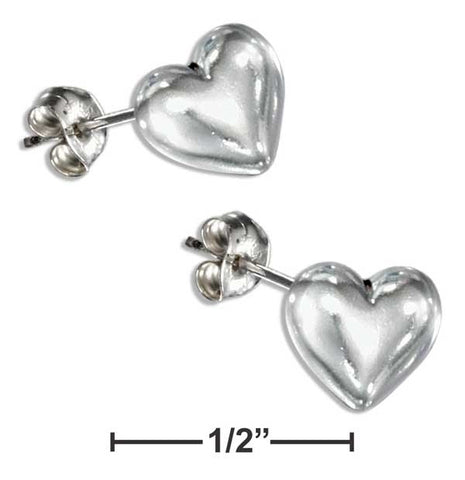 Sterling Silver Mini Heart Earrings On Hypo-Allergenic Steel Posts And Nuts | Jewelry Store