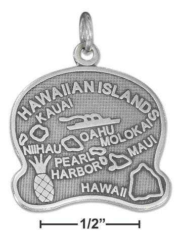 Sterling Silver Antiqued Hawaii State Charm | Jewelry Store