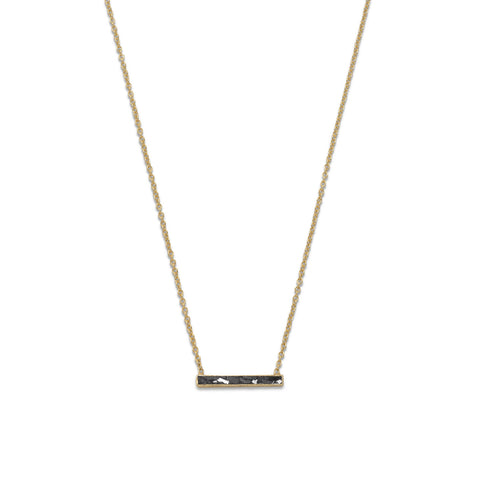 14 Karat Gold Plated Diamond Chip Necklace | Jewelry Store
