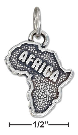 "Sterling Silver Antiqued ""Africa"" Map Charm 