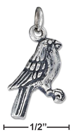Sterling Silver Antiqued Song Bird Charm | Jewelry Store