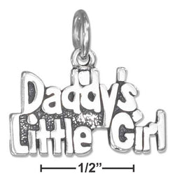 "Sterling Silver Antiqued ""Daddy'S Little Girl"" Charm 