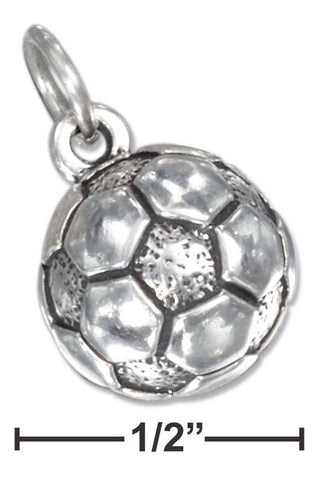 Sterling Silver Antiqued Soccer Ball Charm | Jewelry Store