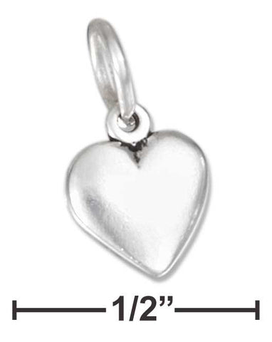 Sterling Silver Tiny Puffed Heart Charm | Jewelry Store