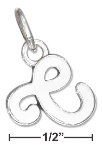 "Sterling Silver Scrolled Letter ""C"" Charm 