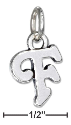 "Sterling Silver Scrolled Letter ""F"" Charm 