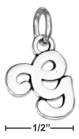 "Sterling Silver Scrolled Letter ""G"" Charm 