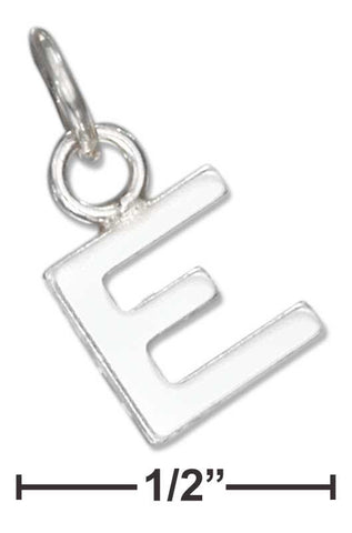"Sterling Silver Fine Lined Letter ""E"" Charm 