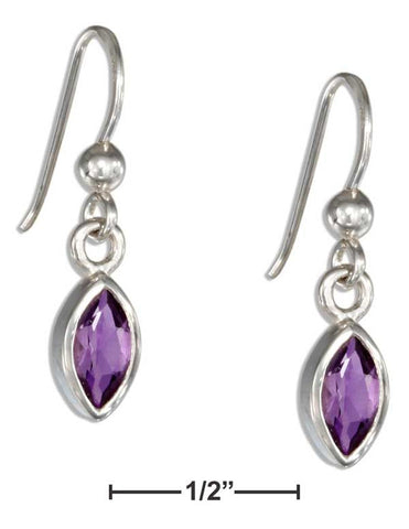 Sterling Silver Marquise Amethyst Earrings On French Wires | Jewelry Store