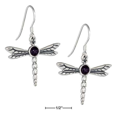 Sterling Silver Amethyst Dragonfly Earrings | Jewelry Store