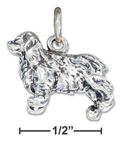 Sterling Silver Three Dimensional Cocker Spaniel Dog Charm | Jewelry Store