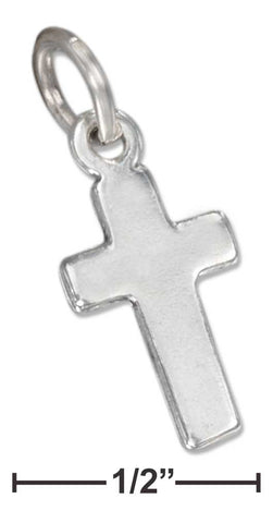Sterling Silver Small Plain Cross Charm | Jewelry Store