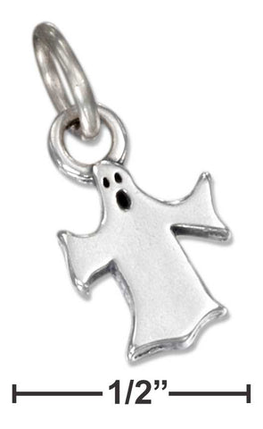 Sterling Silver Flat Ghost Charm | Jewelry Store