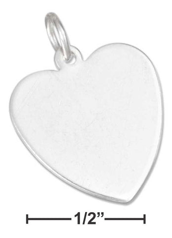 Sterling Silver Engravable Heart Charm | Jewelry Store