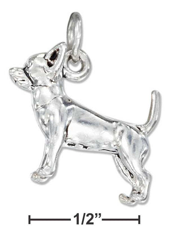Sterling Silver Three Dimensional Chihuahua Dog Charm | Jewelry Store