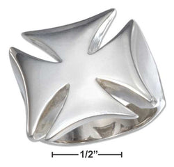 Sterling Silver Mens High Polish Iron Cross Ring | Jewelry Store