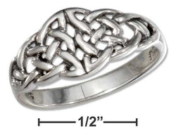 Sterling Silver Open Double Celtic Knots Ring | Jewelry Store